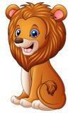 Assento bonito dos desenhos animados do leão Fotografia de Stock