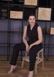 Assento da mulher de negócio Foto de Stock Royalty Free