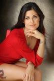 Assento da mulher nova Fotos de Stock Royalty Free