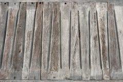 Assento de banco de madeira velho Imagem de Stock