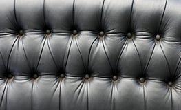 Assento de couro preto em um carro velho Imagem de Stock Royalty Free