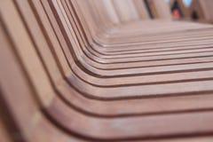 Assento de madeira imagens de stock