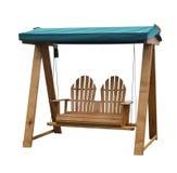 Assento de madeira do balanço do jardim Foto de Stock Royalty Free