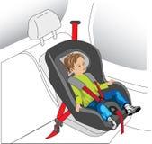 Assento do automóvel da criança Foto de Stock Royalty Free