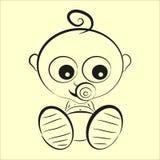 Assento do bebê ilustração royalty free