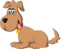 Assento do cão dos desenhos animados Imagens de Stock Royalty Free