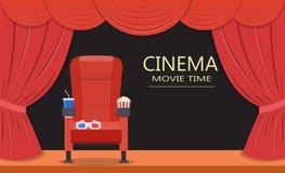 Assento do cinema Assento do teatro Imagens de Stock