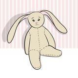 Assento do coelho de pano do desenho da mão Foto de Stock Royalty Free