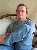 Assento do homem imagens de stock royalty free