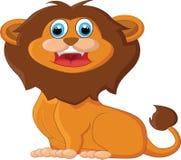 Assento do leão dos desenhos animados Fotografia de Stock