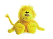 Assento do leão do bicho de pelúcia Fotografia de Stock