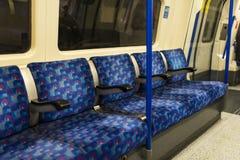 Assento do trem Fotografia de Stock