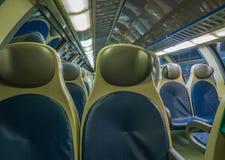 Assento do trem no trem fotografia de stock royalty free