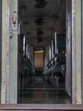 Assento do trem no trem Imagem de Stock Royalty Free