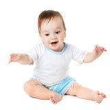 Assento e riso do bebê Imagem de Stock Royalty Free