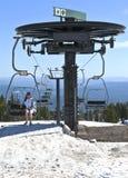 Assento em uma excursão da capa do Mt. do elevador. Imagem de Stock Royalty Free