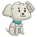 Assento feliz do cão pequeno Imagem de Stock Royalty Free
