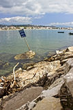 Assento na doca da baía Imagens de Stock Royalty Free