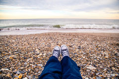 Assento na praia Foto de Stock Royalty Free