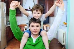 Assento no pai Imagem de Stock Royalty Free