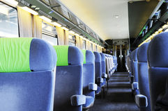 Assento no trem Imagens de Stock Royalty Free