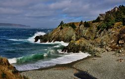 Assento pelo mar Fotografia de Stock Royalty Free
