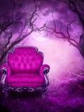 Assento roxo ilustração stock