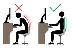 Assento traseiro do escritório correto ilustração stock