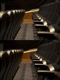 Assento vazio da fileira do teatro Foto de Stock Royalty Free