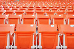 Assento vermelho do estádio Imagens de Stock