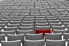 Assento vermelho do estádio Imagem de Stock