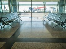 assentos 24-Airport Foto de Stock Royalty Free