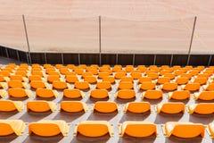 Assentos alaranjados Fotografia de Stock