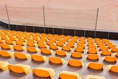 Assentos alaranjados Imagem de Stock