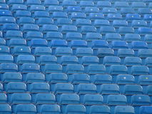Assentos azuis fotografia de stock