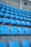Assentos cianos Fotos de Stock