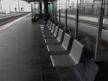 Assentos cinzentos do metal Imagens de Stock Royalty Free