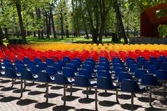 Assentos coloridos Foto de Stock