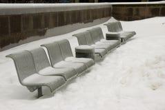 Assentos congelados Foto de Stock
