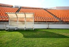 Assentos da arena de esporte Fotografia de Stock Royalty Free