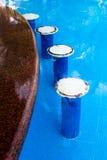 Assentos da barra da piscina Fotografia de Stock Royalty Free