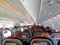 Assentos da cabine do plano dos aviões do avião foto de stock royalty free