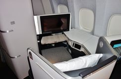 Assentos da classe executiva em Air Canada Imagens de Stock