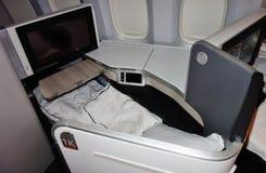 Assentos da classe executiva em Air Canada Fotos de Stock Royalty Free