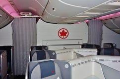 Assentos da classe executiva em Air Canada Foto de Stock