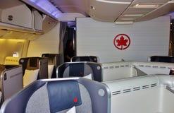 Assentos da classe executiva em Air Canada Imagem de Stock