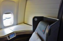 Assentos da classe executiva em Air Canada Fotografia de Stock Royalty Free