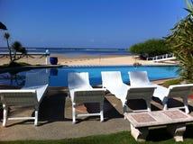Assentos da piscina Imagens de Stock Royalty Free