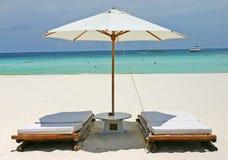 Assentos da praia de Bora fotos de stock