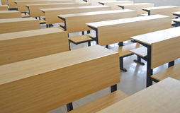 Assentos da sala de aula Foto de Stock